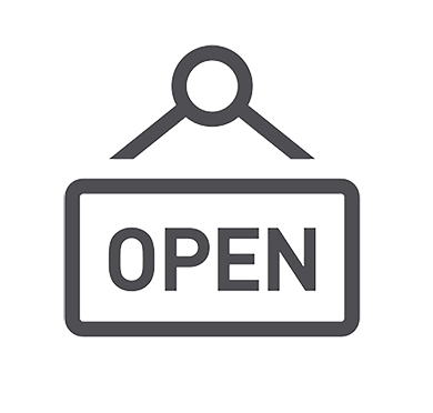 Business open sign